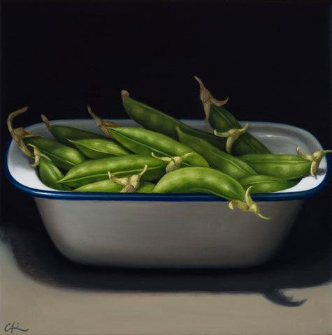 STILL LIFE WITH PEA PODS