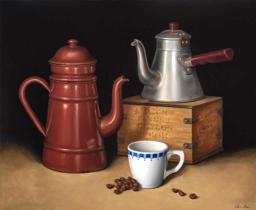 STILL LIFE WITH COFFEE & TEA