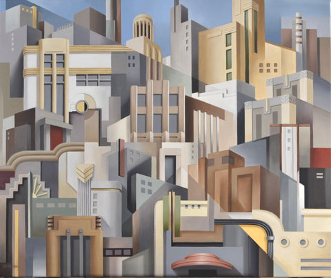 STREAMLINE CITY giclée print