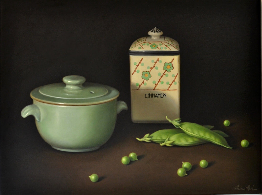 STILL LIFE WITH RUN-AWAY PEAS
