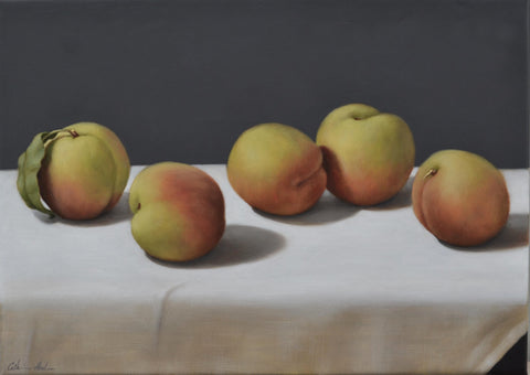 STILL LIFE WITH SWEET PEACHES