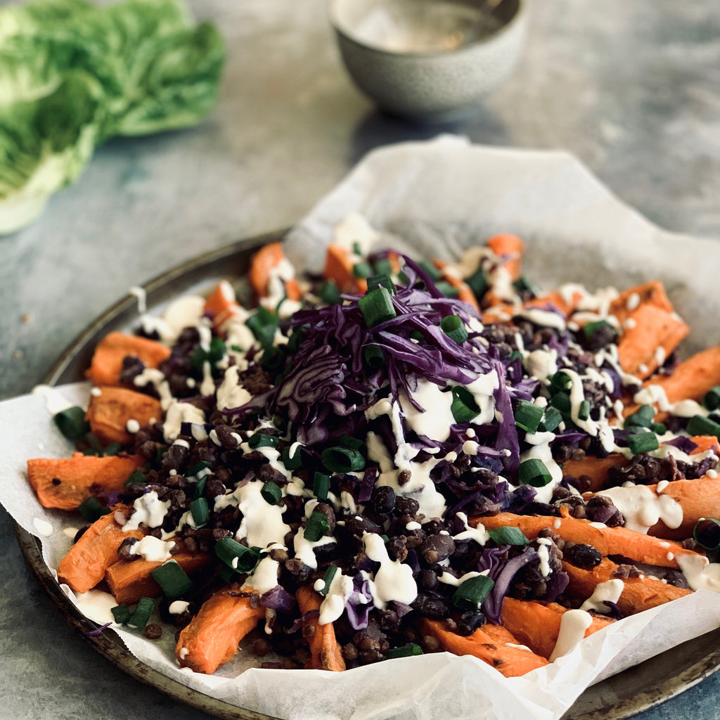 Loaded Sweet Potato Fries (with Eczema Friendly Ingredients)