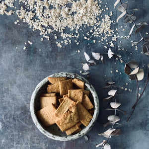 Flakey Oat and Chickpea Crackers