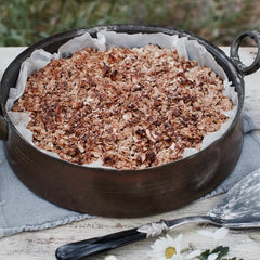 healthy pear crumble image