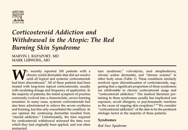 Steroid addiction and withdrawal TSW research
