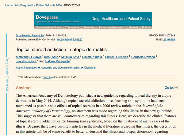Topical steroid addiction TSW eczema side effects