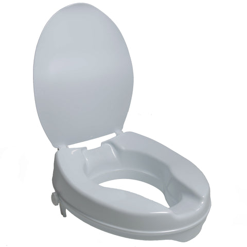 Molded Toilet Seat Riser w/ Lid, 2""