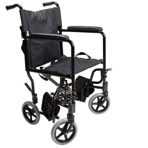 Lightweight Transport Chair (with swinging and detachable footrests)