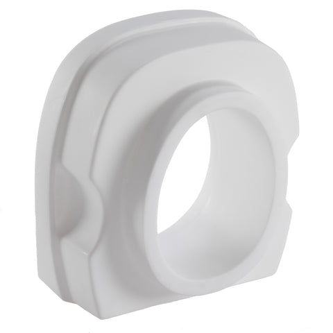 Molded Toilet Seat Riser w/ Contoured Back