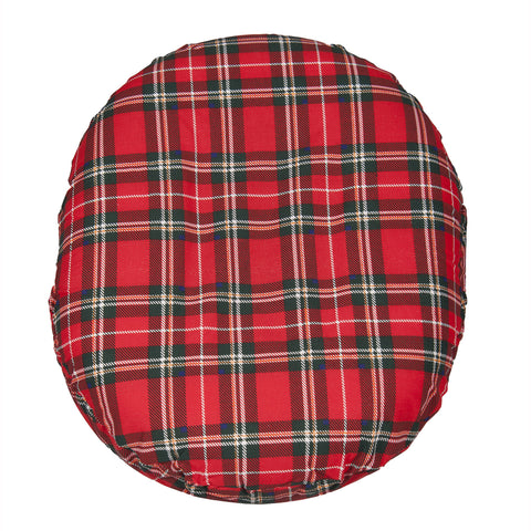 Foam Ring Cushion w/ Plaid Cover, 16""