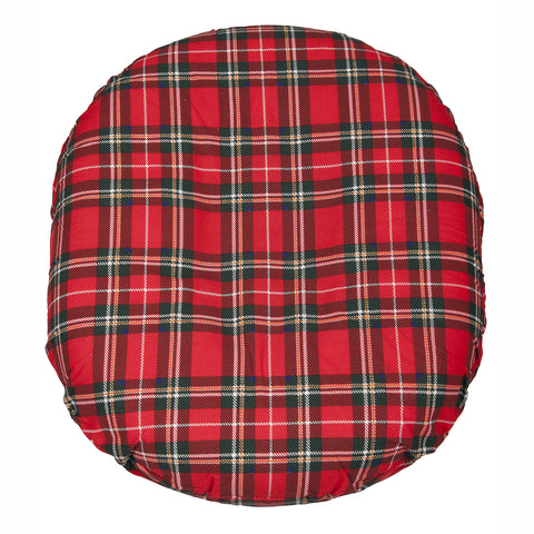 Foam Ring Cushion w/ Plaid Cover, 18""