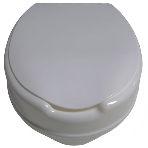 Molded Toilet Seat Riser w/ Lid, 4""