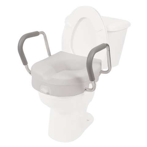 Molded Toilet Seat Riser w/ Removable Arms
