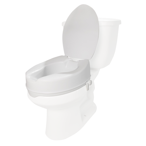 Molded Toilet Seat Riser with Lid, 4 inch lift