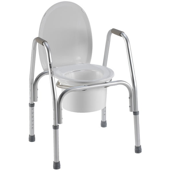 Aluminum 3 In 1 Commode Free Shipping Home Medical Supply