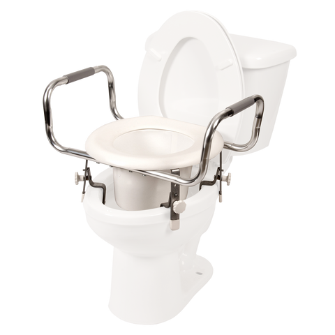 Adjustable Raised Toilet Seat w/ Arms
