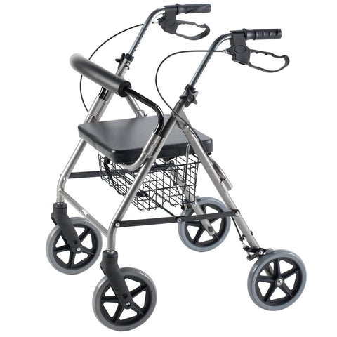 Rollator With Curved Backrest