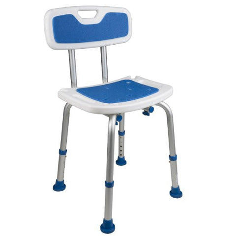 bath safety chair with padded backrest and seat