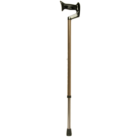 Bronze Cane, Large Orthopedic Handle