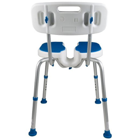 Padded Bath Shower Safety Seat With Hygienic Cutout And