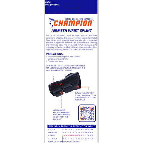 Champion C-450, Airmesh Wrist Splint