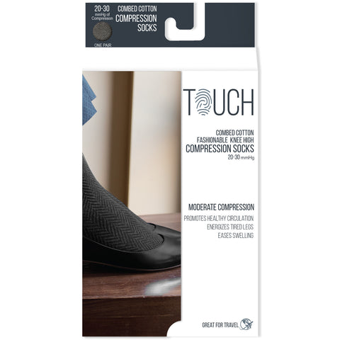 Touch 1070, Ladies' Knee High Compression Socks, 20-30 mmHg)
