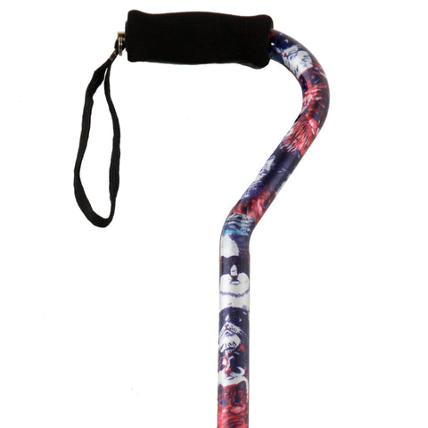 PCP 214156, Adjustable Pattern Cane with Offset Handle and Wrist Strap