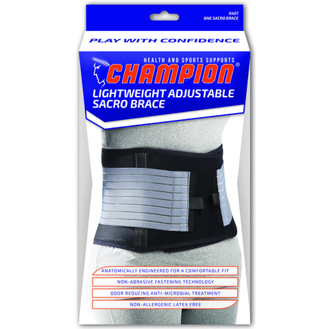 Champion C-407, Lightweight Adjustable Sacro Brace