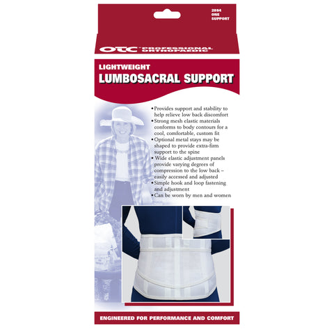 OTC 2884, Lightweight Lumbosacral Support
