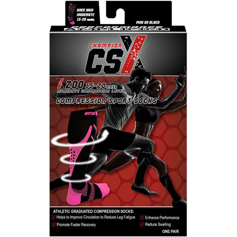 CSX X200, Compression Sport Socks, 15 - 20 mmHg