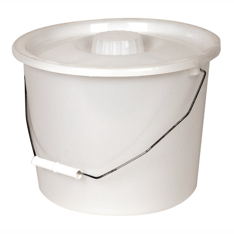 Replacement Full Pail w/ Lid and Handle, White