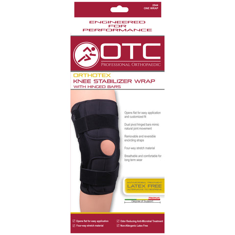 OTC 2544, Orthotex Knee Stabilizer Wrap - Hinged Bars