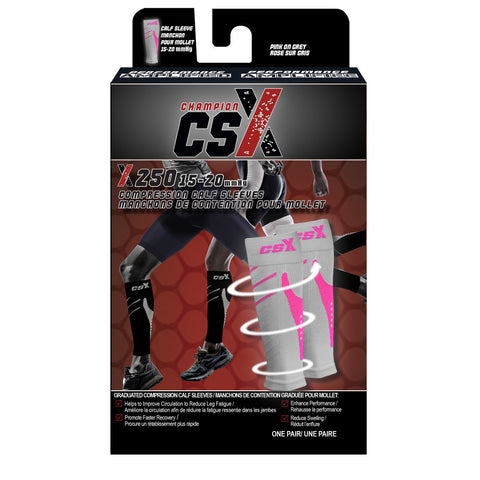 CSX X250, Compression Calf Sleeves, 15 - 20 mmHg