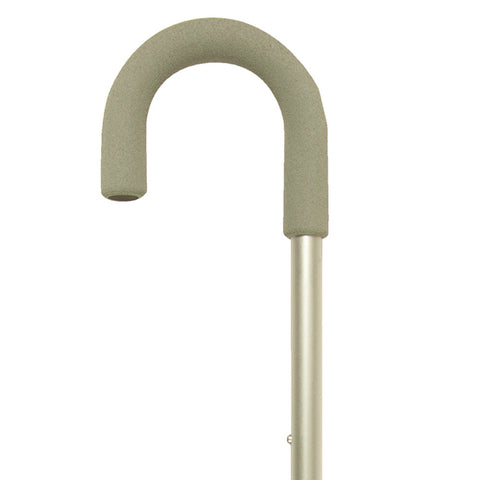 PCP 5086, Adjustable Aluminum Cane, Curved Handle