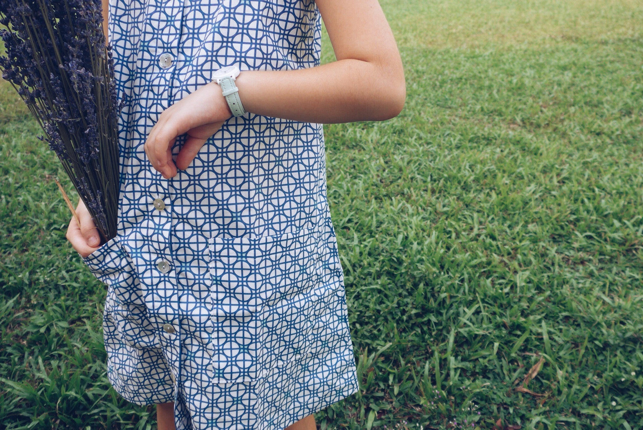 Interlace Blue Shirt Dress (Last Piece in Size 1T Only)