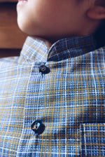 Crosshatch Blue Shirt