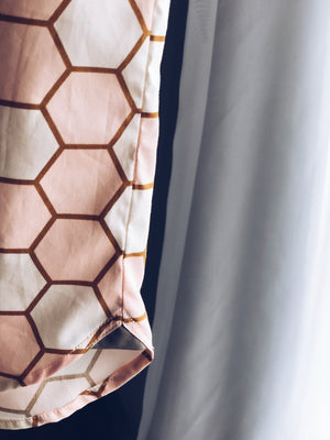 Rose & Gold Honeycomb Shirt (LAST PIECE IN 10T)
