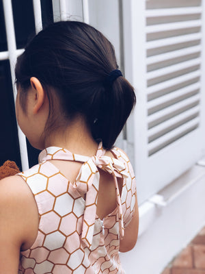 Rose & Gold Honeycomb Cheongsam Dress