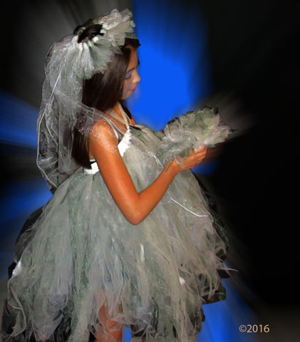 Adult Corpse Bride Themed Tutu & Headpiece