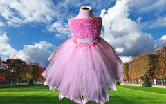 Ladies Baby's Breath Pink Sparkle Tutu Skirt