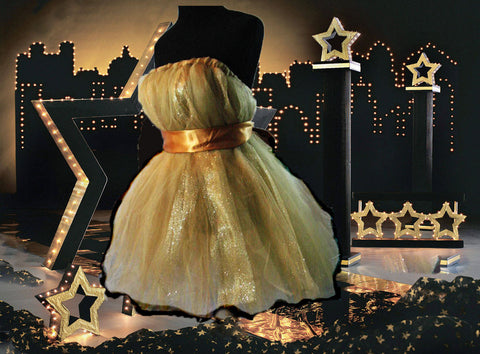 Gold Gal Tulle Dress