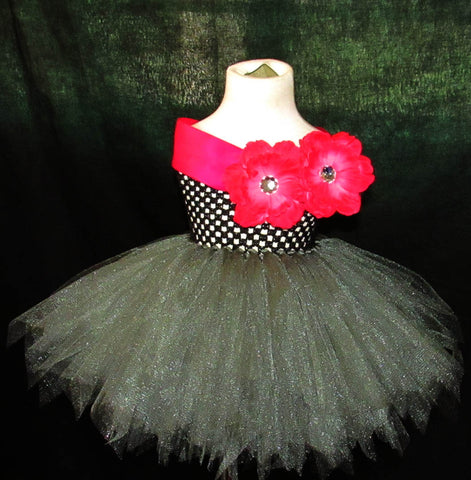 Gun Metal Tutu Dress
