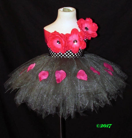 Gunmetal and Petals Tutu Dress