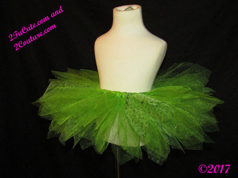 Ladies Sparkle Green Tutu Skirt