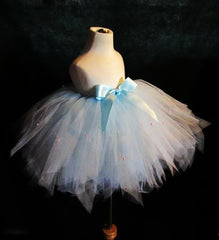 Couture Baby Blue and Pearl Skirt
