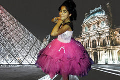 Full Figured Stunning Paris Themed Couture Dress