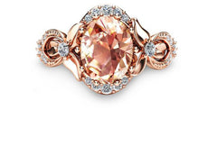 Super Sale 18K Rose Champagne Ring