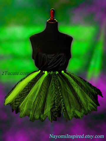 Apple Green Adult Safari Tutu Skirt