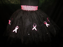 Beautiful Black Petal Style Awareness Tutu