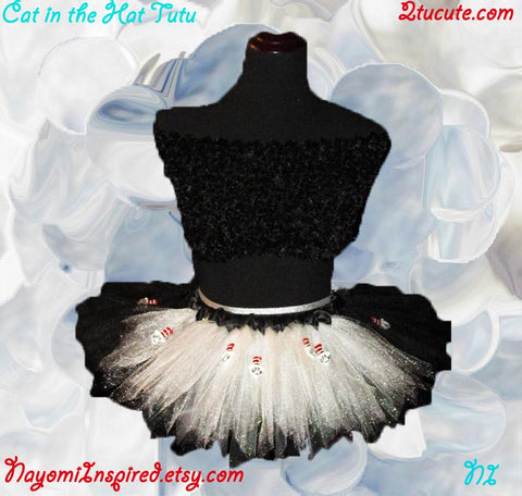Cat in the Hat Style Tutu